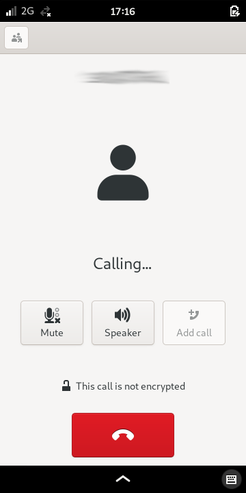 Information and available actions during a call