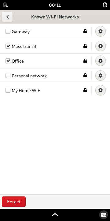 Selecting a known Wi-Fi network